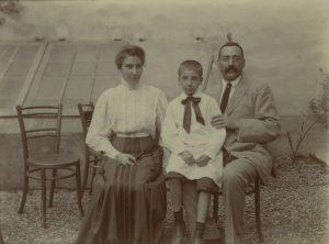 Pietro, Emma, Paolo Simoni, WWII. Pensione Bencistà - Fiesole, Florence