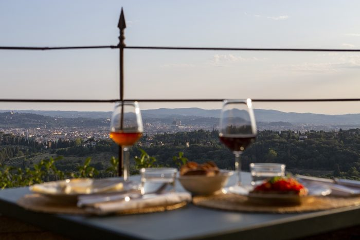 Panorama Firenze da Pensione Bencistà, Fiseole, Toscana, Italia