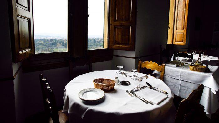 Restaurant Pensione Bencistà, belvedere Firenze, Fiesole's hill